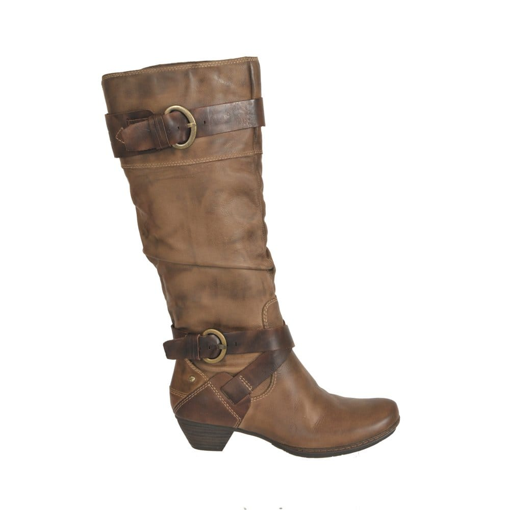 pikolinos arizona brown leather boot 801 8004