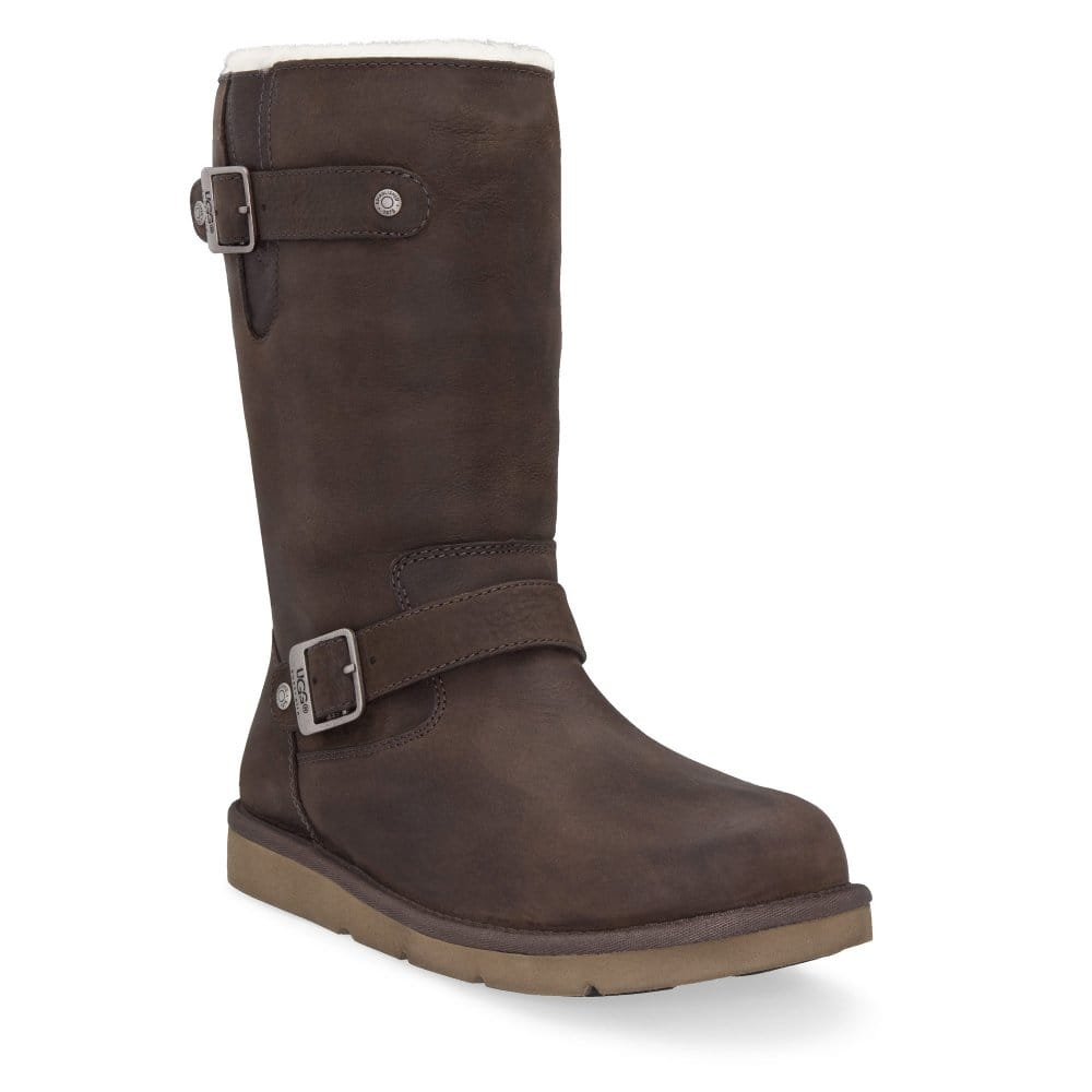 ugg australia kensington brown leather calf boots