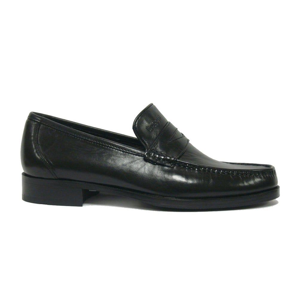 bugatti brie mens black leather slip on shoes bugatti