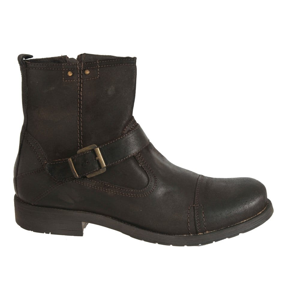 effegi arriva mens brown leather biker boots effegi