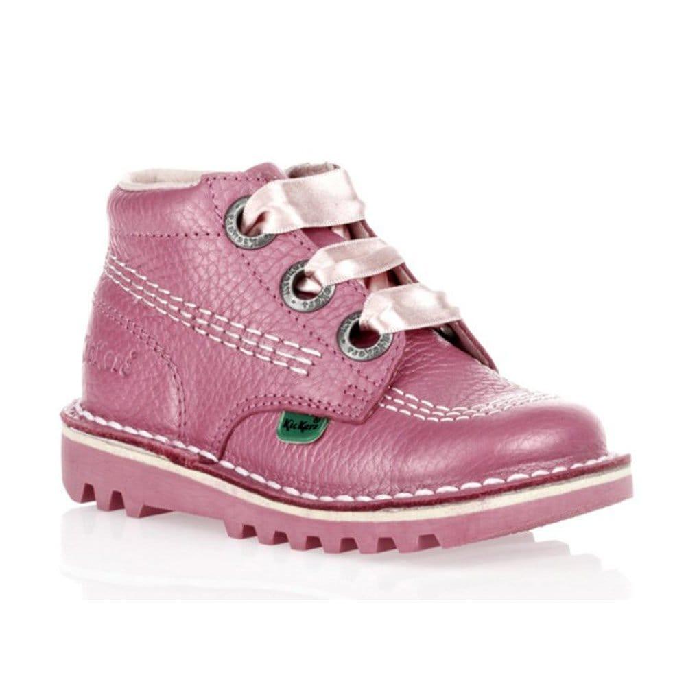 New Womens Kickers Kick Hi Womens Blackpink Flats Shoes  EBay