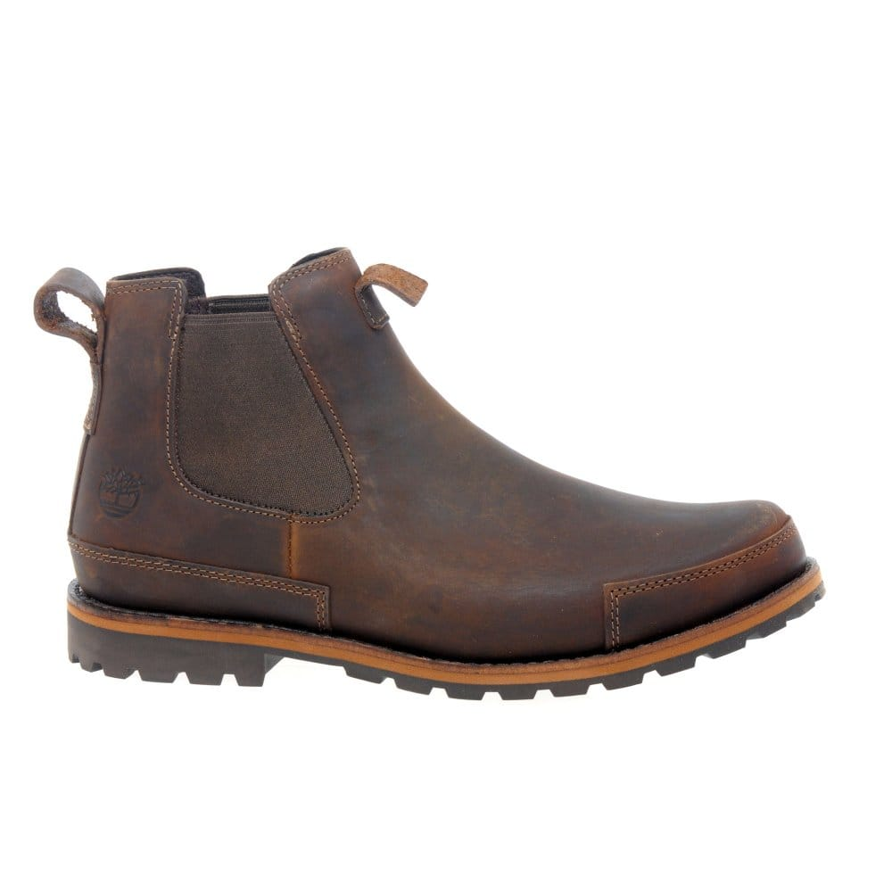timberland mens brown leather earthkeeper chelsea