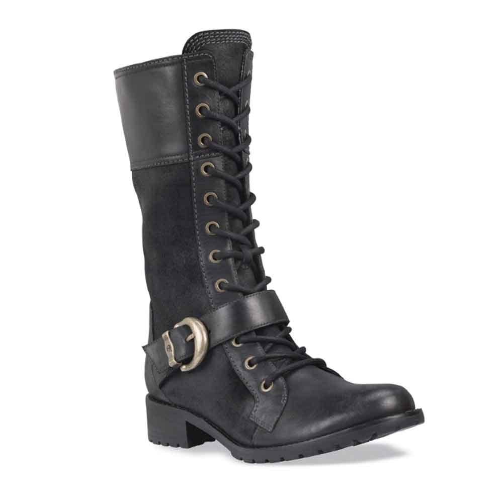 timberland bethel lace black leather lace up boot