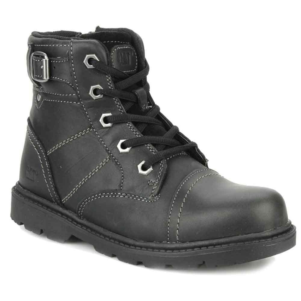 cat towson boys black leather lace up boots cat from