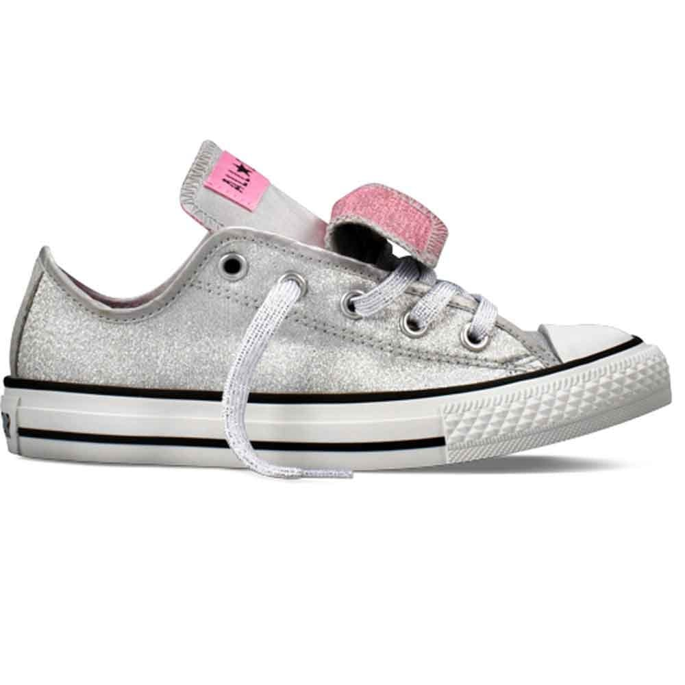 converse all silver canvas shoes converse