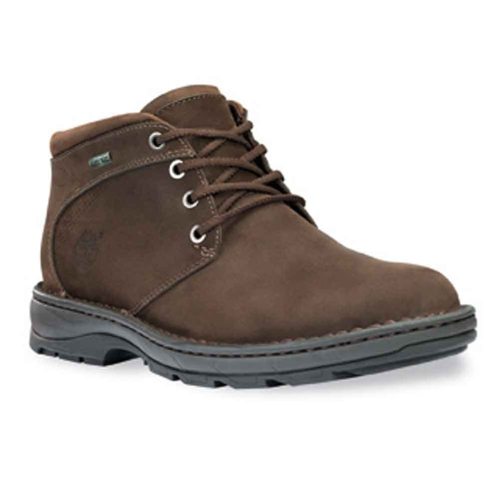 timberland mens city chukka tex brown boots