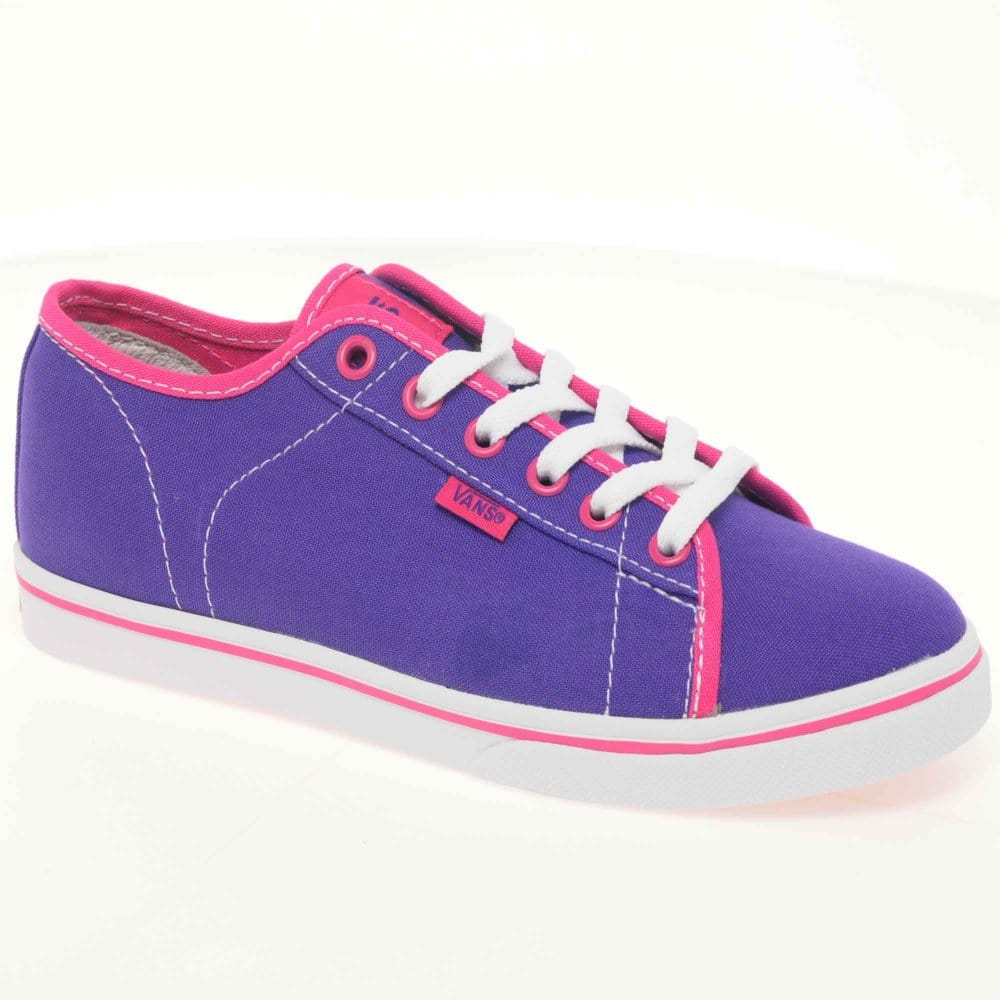 Vans Vans Ferris Lo Pro Purple Canvas Lace Up Girls Shoes ...