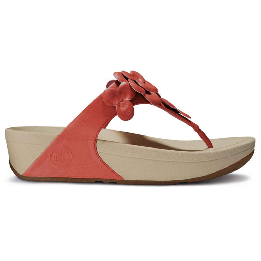 Fitflop fleur red flower ladies sandals fitflop from for Crocs fleurs