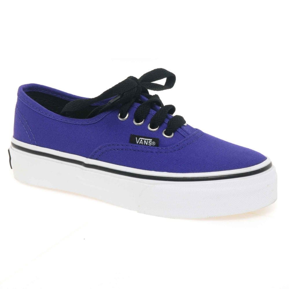 Vans Vans Authentic Canvas Junior Purple Lace Up Girls ...