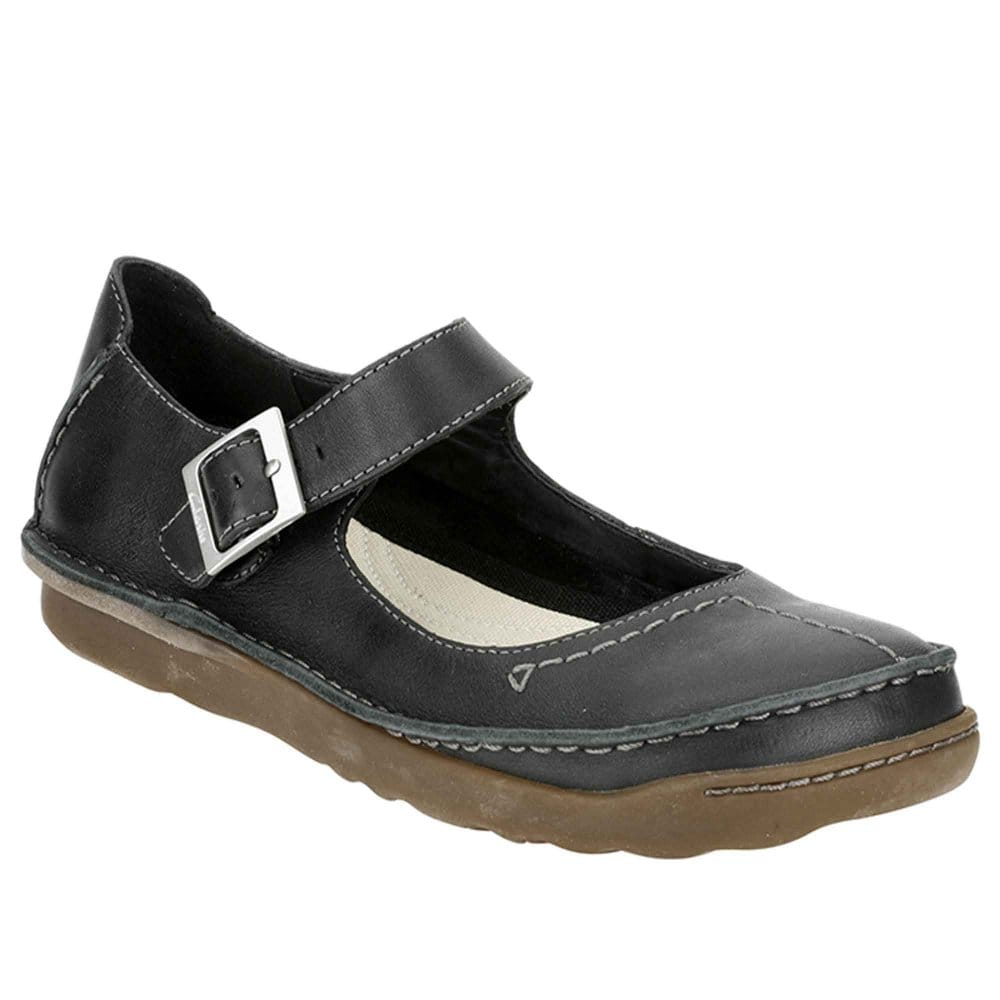 clarks faze fever black leather womens shoes clarks from