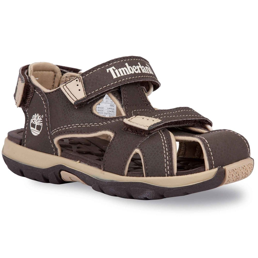... Closed Toe Brown Boys Sandals - Timberland from Charles Clinkard UK
