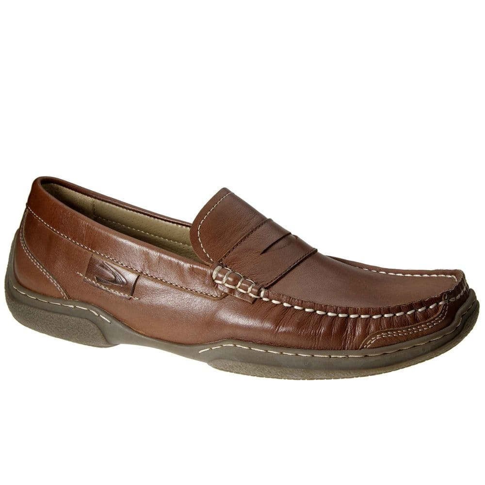 ... › Camel Active › Camel Active Charles Brown Leather Mens Loafers