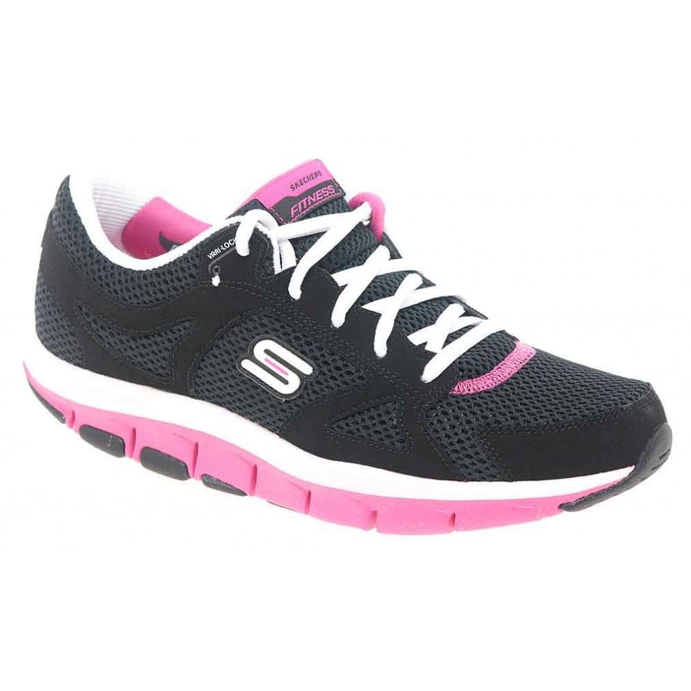 skechers liv smart black and pink shape up trainers. Black Bedroom Furniture Sets. Home Design Ideas