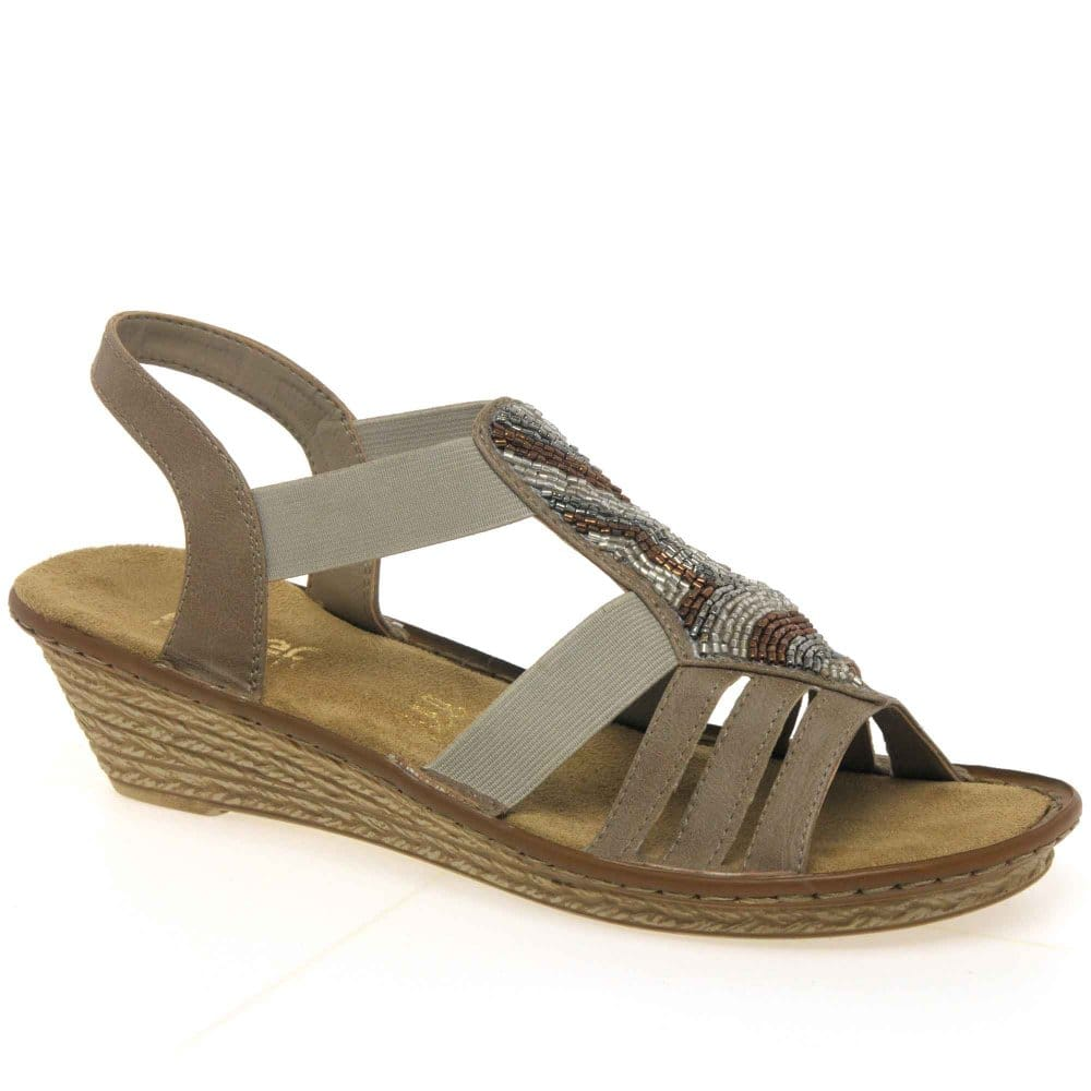 rieker melbourne strappy wedge sandals rieker from