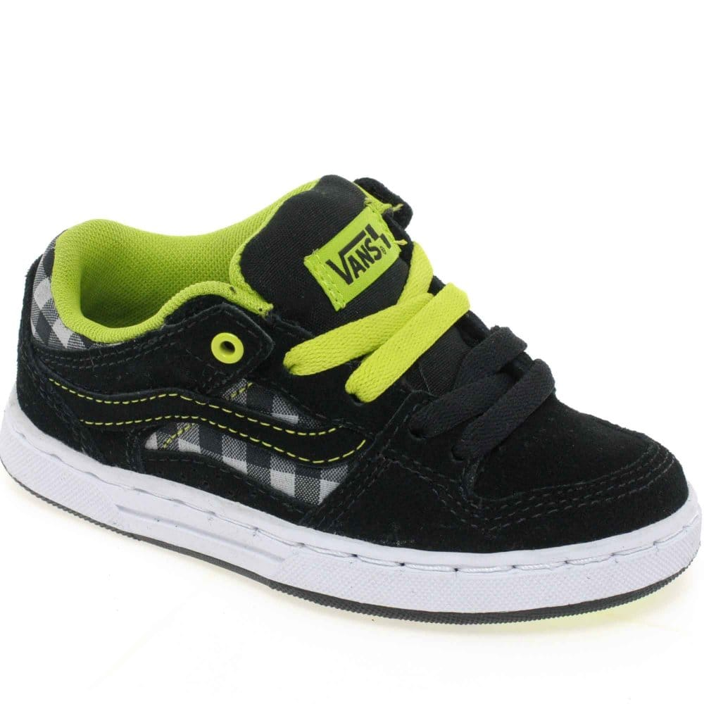 vans baxter black green lace up boys shoes vans from