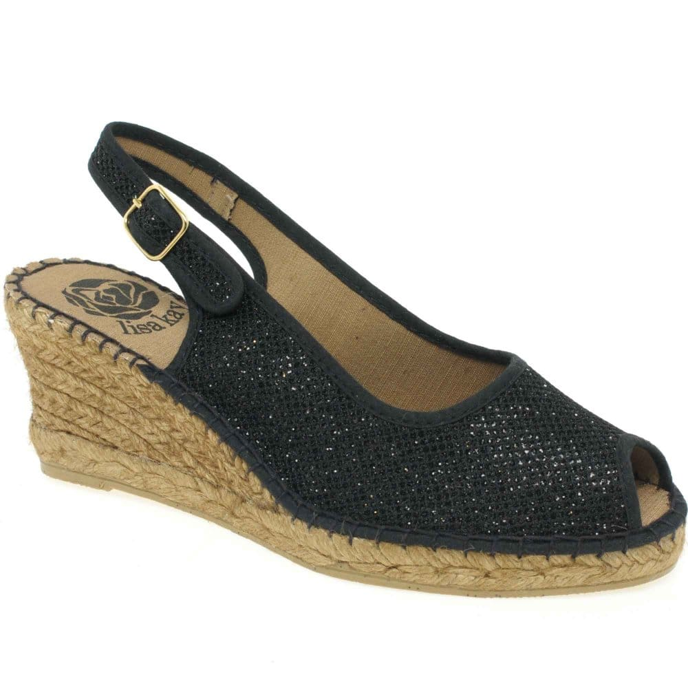clarice womens shoes wedge glitter charles