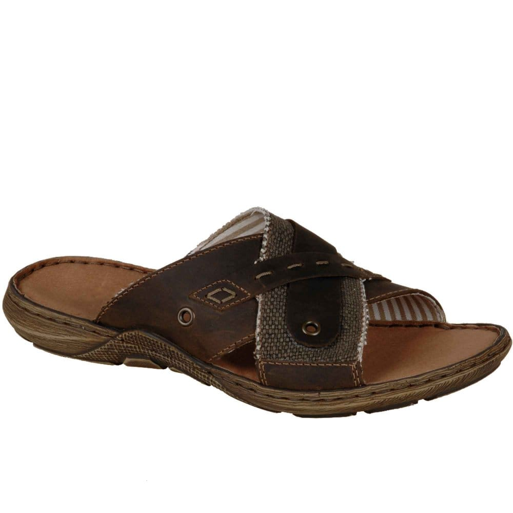 Leather Slide Sandals For Men Images House Shoes