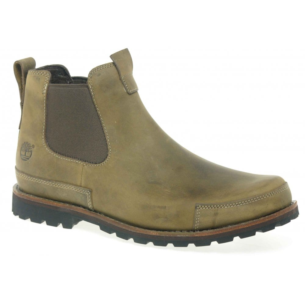 timberland mens brown leather chelsea boot timberland