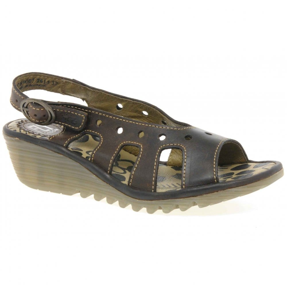 fly otto peep toe low wedge shoes fly from