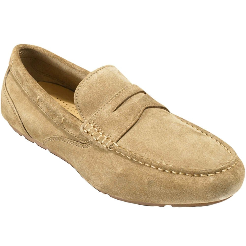 rockport rockport greenbrook vicuna suede slip on mens