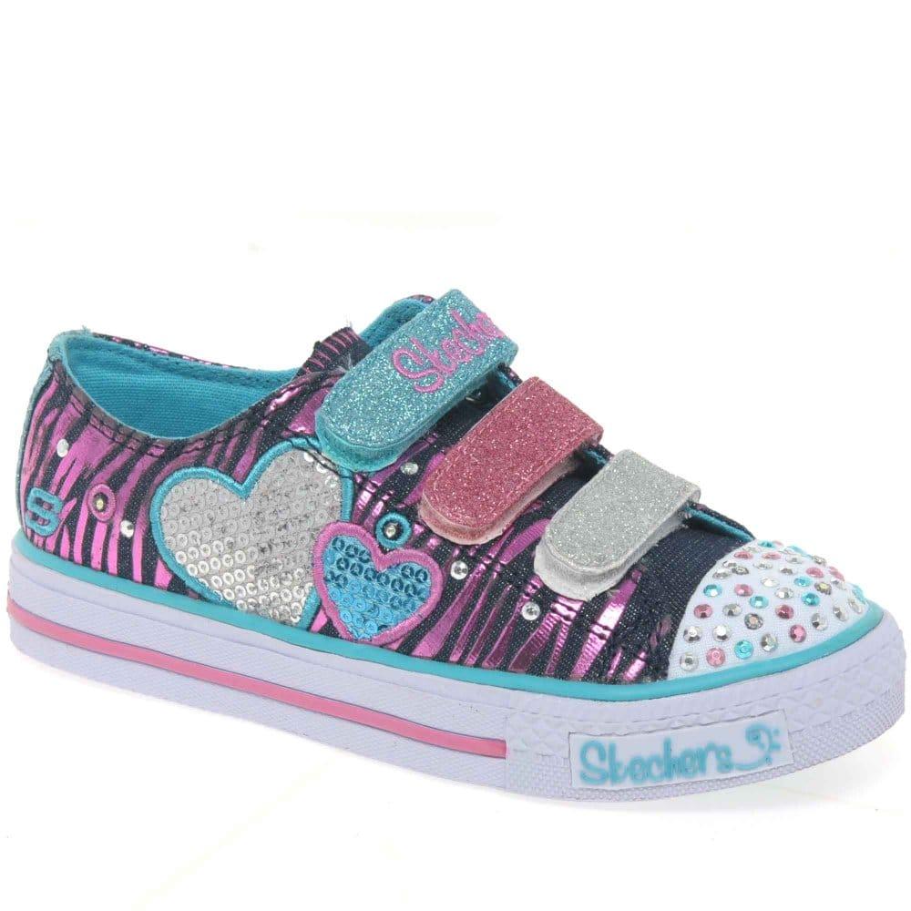 home girls shoes skechers skechers tripletime light up. Black Bedroom Furniture Sets. Home Design Ideas