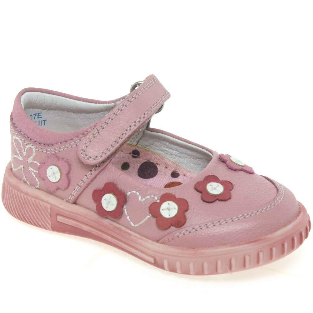 hush puppies seabiscuit pale pink velcro fastening