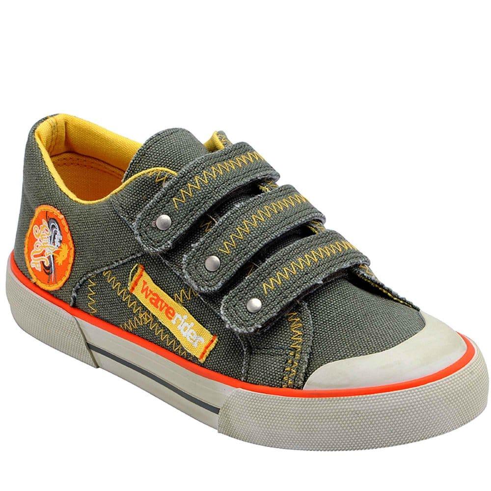 startrite crush boys velcro fastening canvas shoes