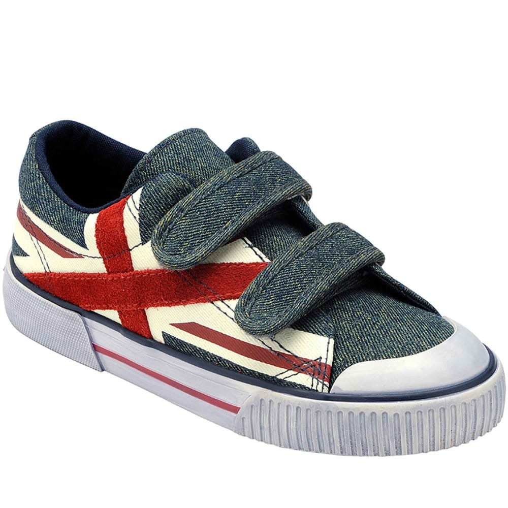 startrite flag boys velcro fastening canvas shoes