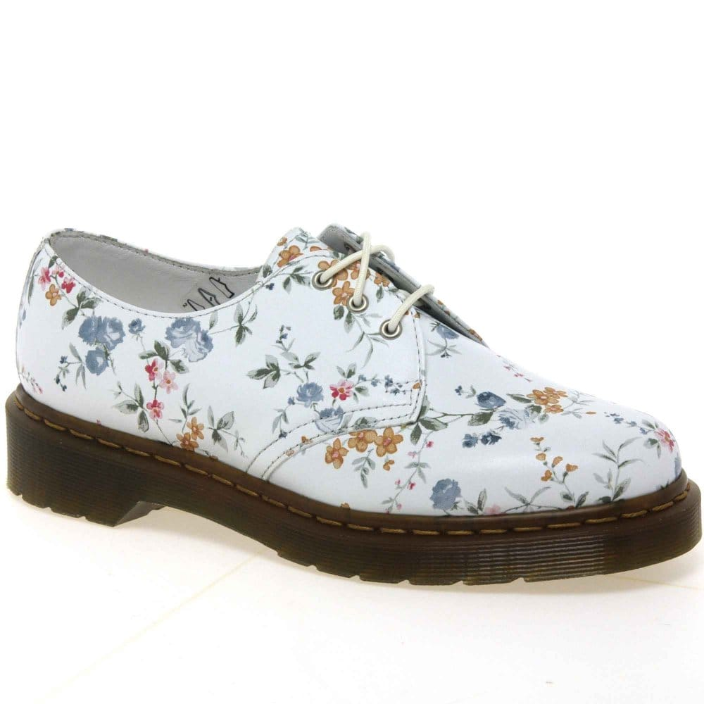 dr martens flower shoes womens lace charles clinkard