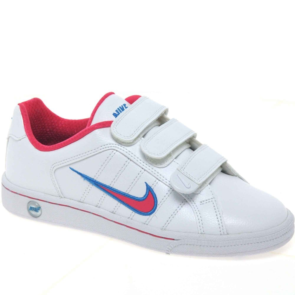 nike court trad senior velcro fastening sports shoes