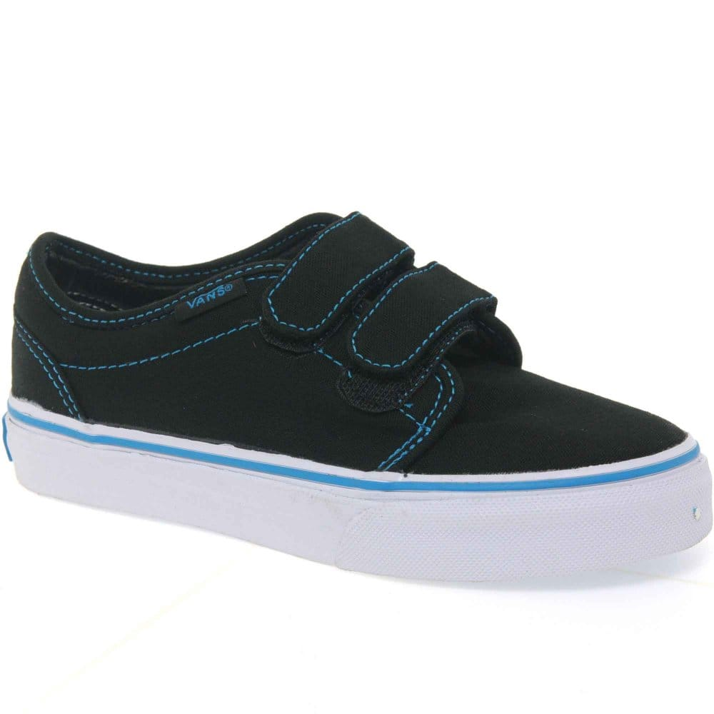 vans boys velcro fastening canvas shoes vans from