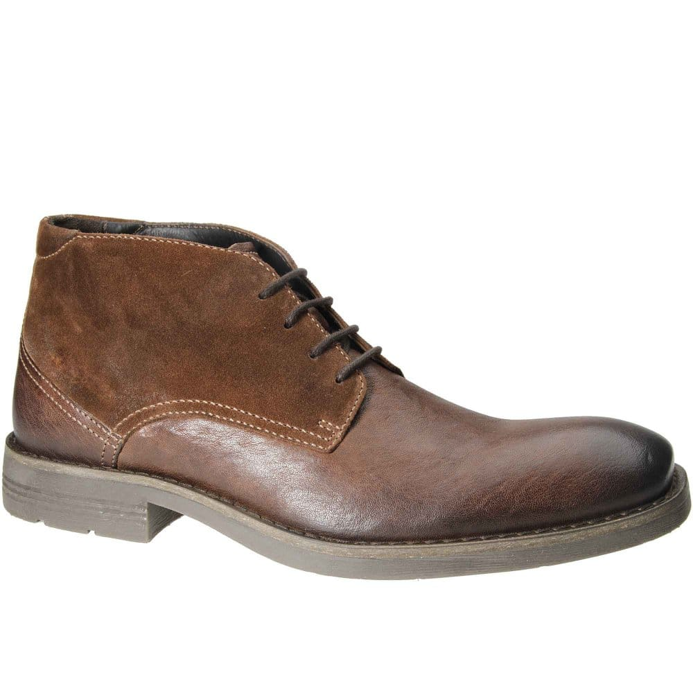 camel active abbot mens lace up leather and suede boots. Black Bedroom Furniture Sets. Home Design Ideas