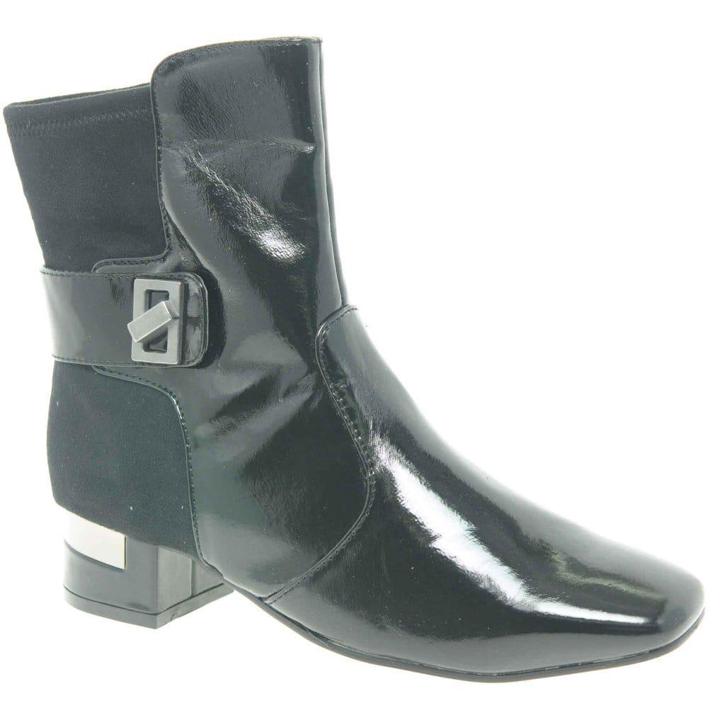 marco tozzi twiggy ii two tone black ankle boots