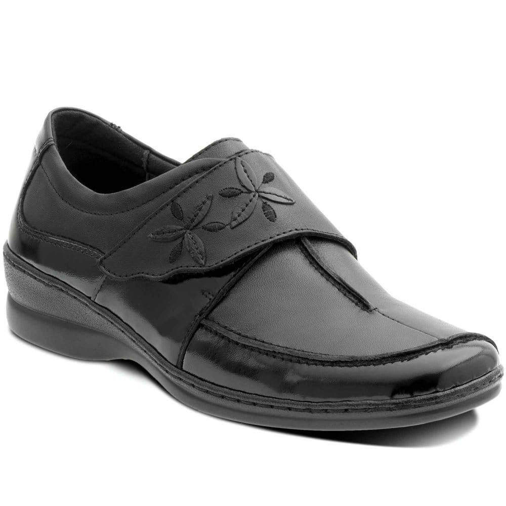 padders lemnos womens velcro fastening casual shoes