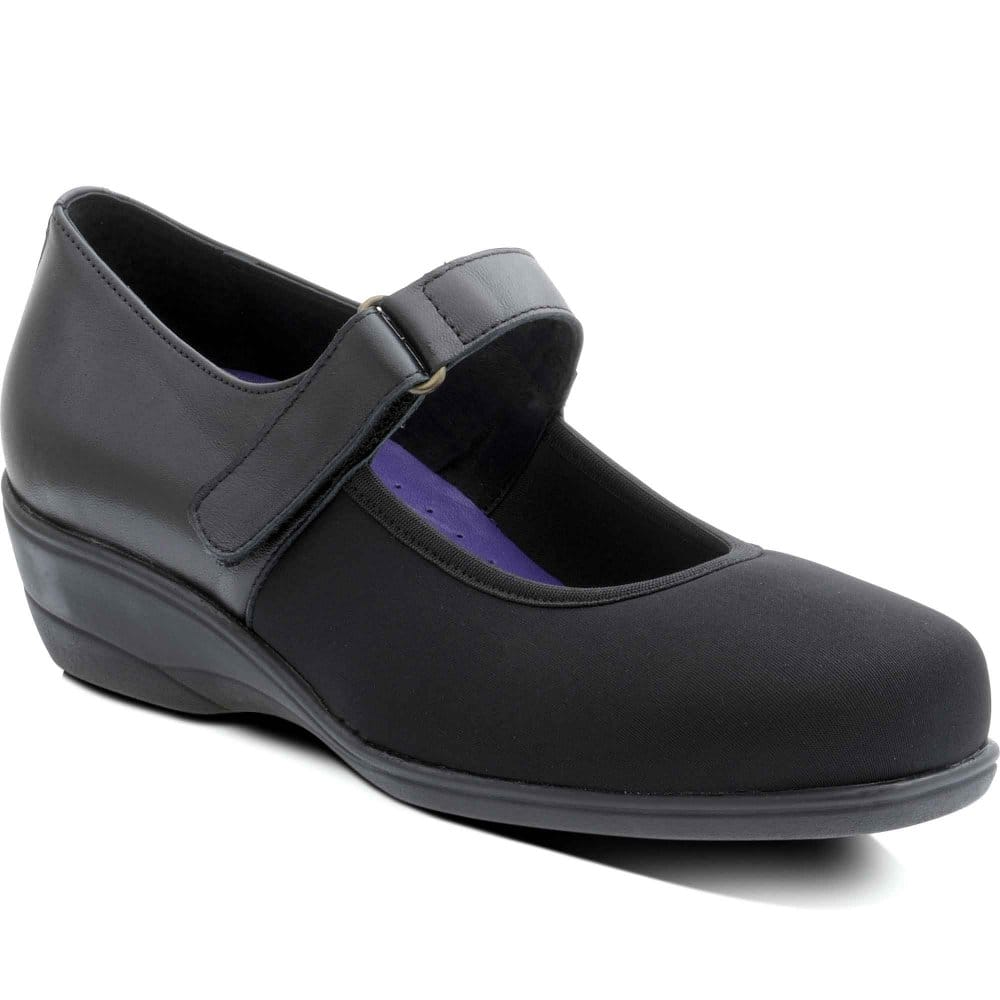 padders maisie womens velcro fastening casual shoes
