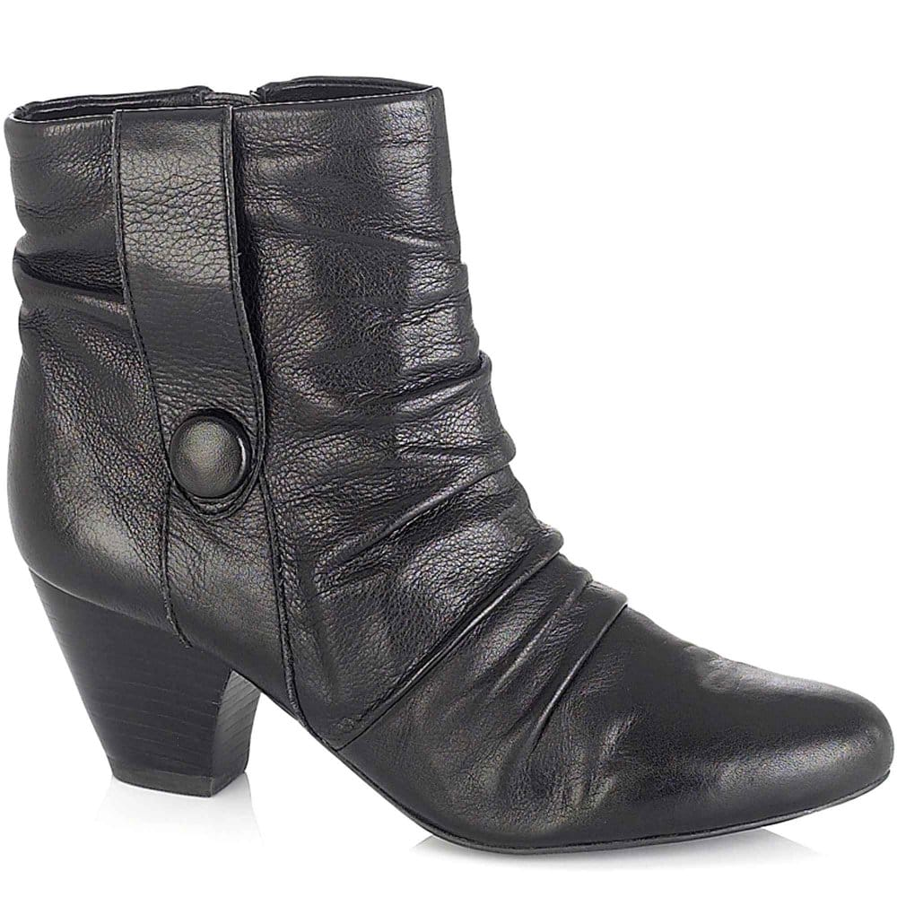 lotus graphite womens leather ankle boots lotus from