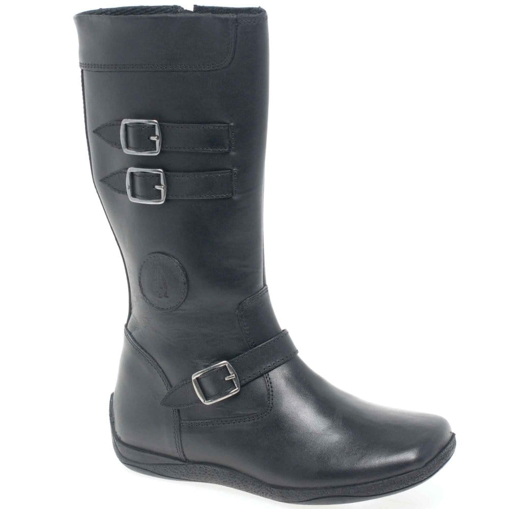 Hush Puppies Black Kana Long Boots - BHS