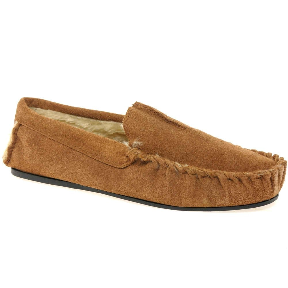 Home men slippers dunlop dunlop romeo mens suede