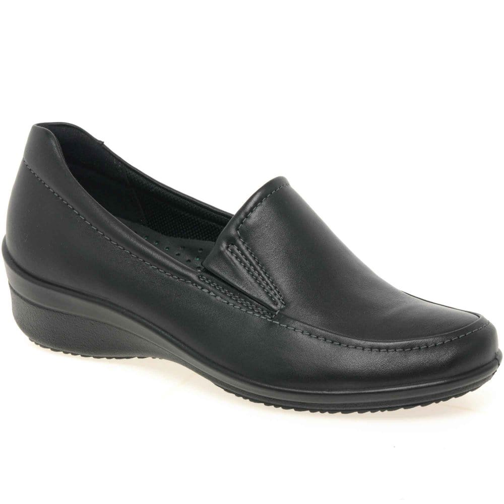 ecco cordon leather slip on shoes charles clinkard