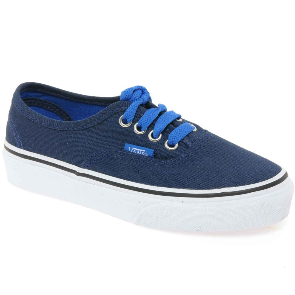 vans authentic pop boys lace up canvas shoes charles clinkard
