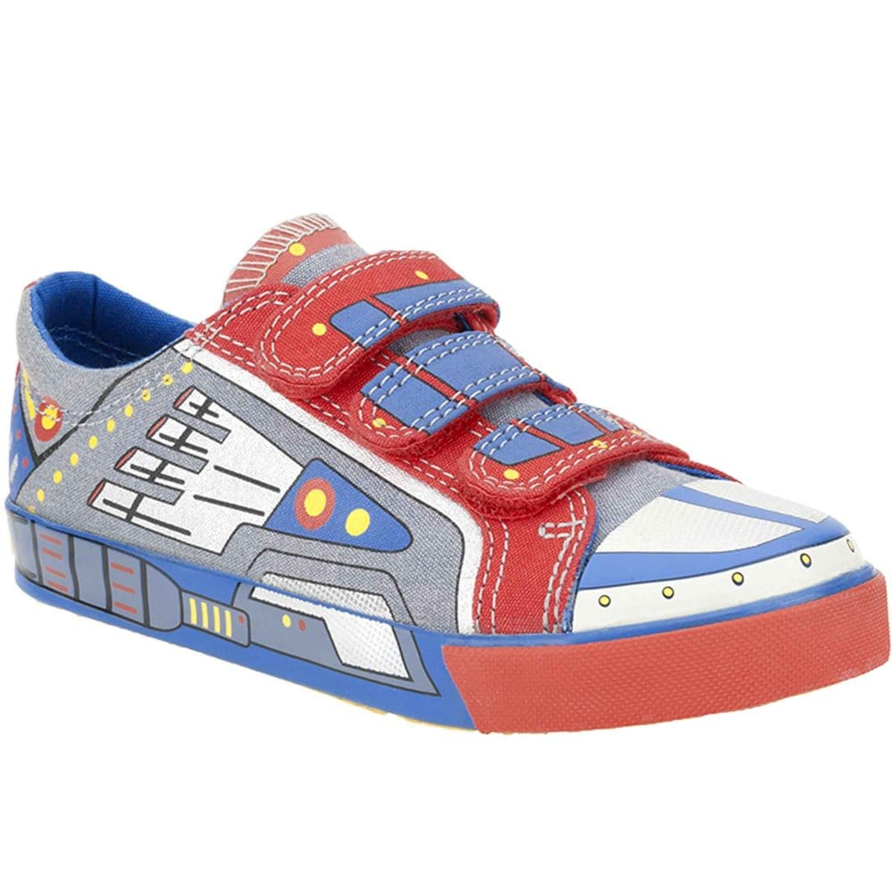 clarks blasting go boys velcro fastening canvas shoes