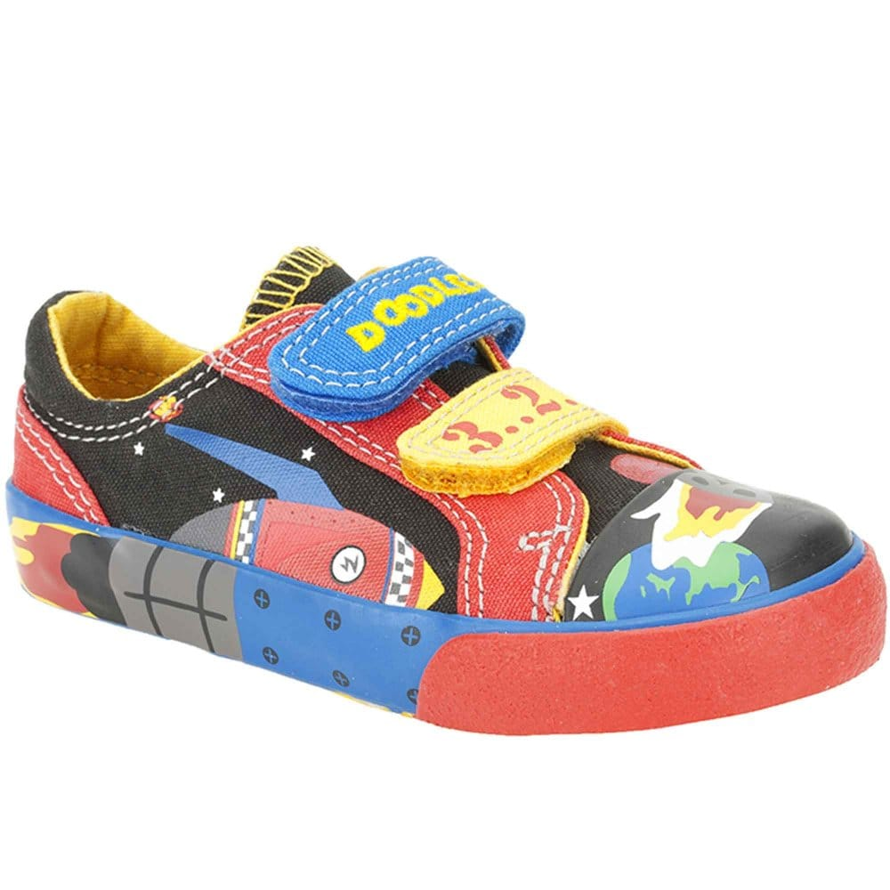 clarks blast time boys canvas shoes velcro charles