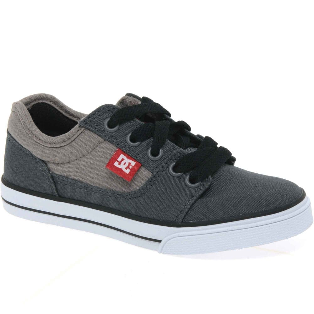 dc bristol boys canvas lace up casual shoes charles clinkard