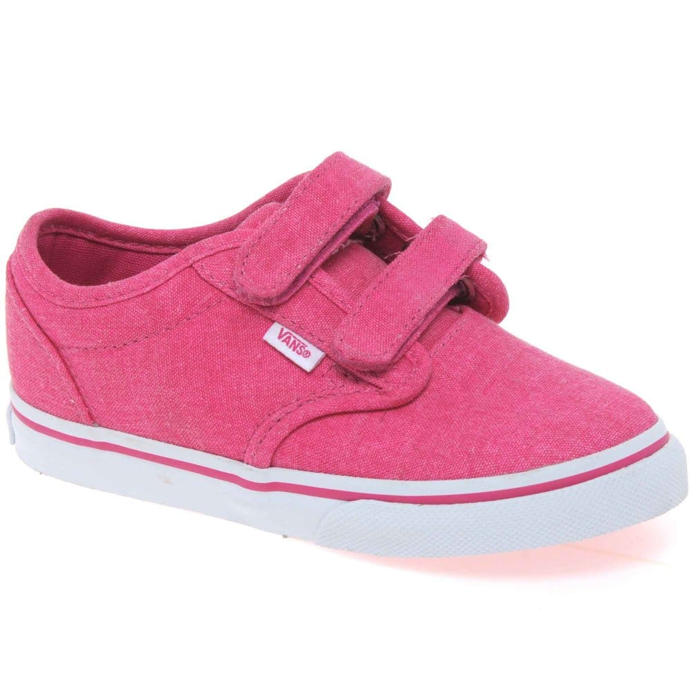 Vans Atwood Infant Girls Velcro Fastening Canvas Shoes ...