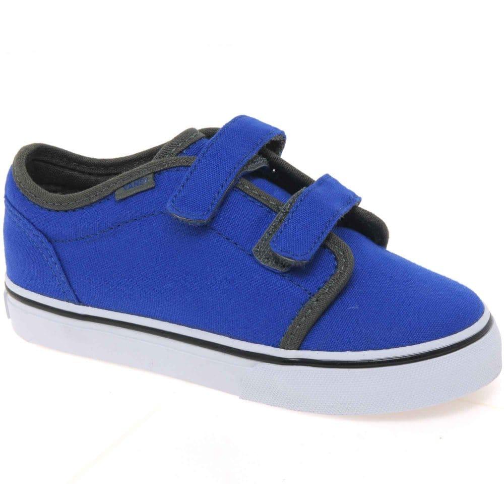 vans big school boys velcro fastening canvas shoes vans