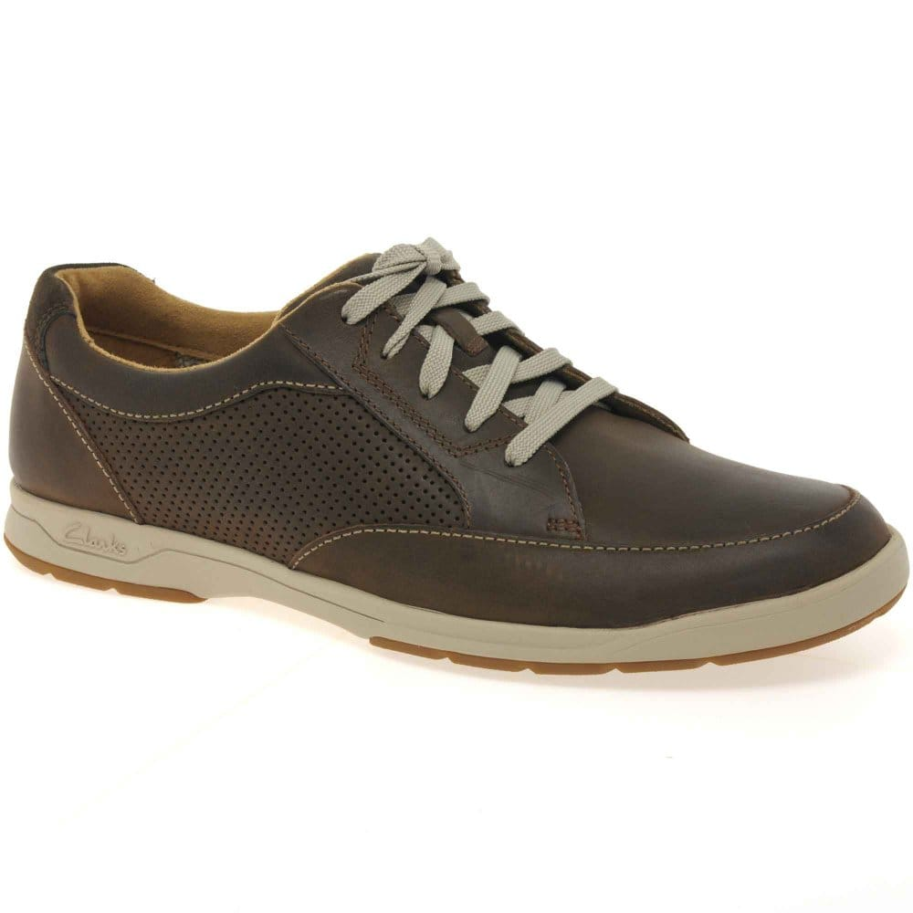 clarks stafford park mens lace up casual shoes charles