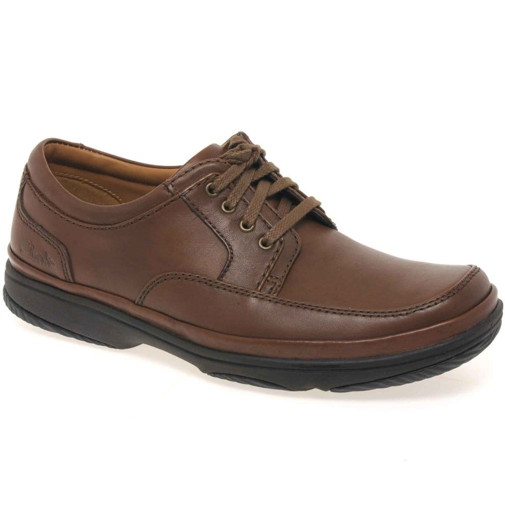 clarks mile mens casual brown lace up shoes clarks