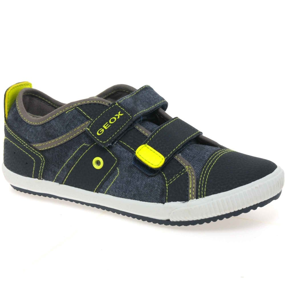 geox junior pit boys velcro fastening canvas shoes geox