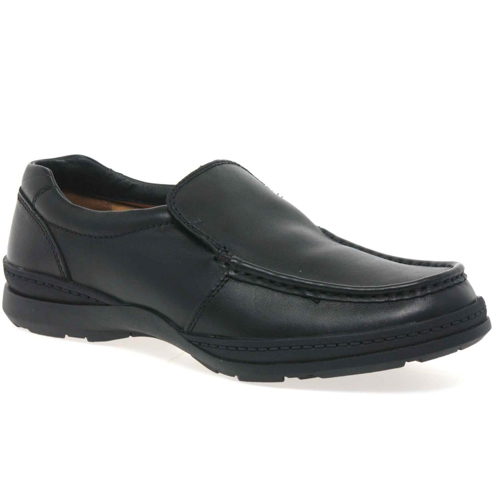 clarks line move shoes mens black leather charles clinkard