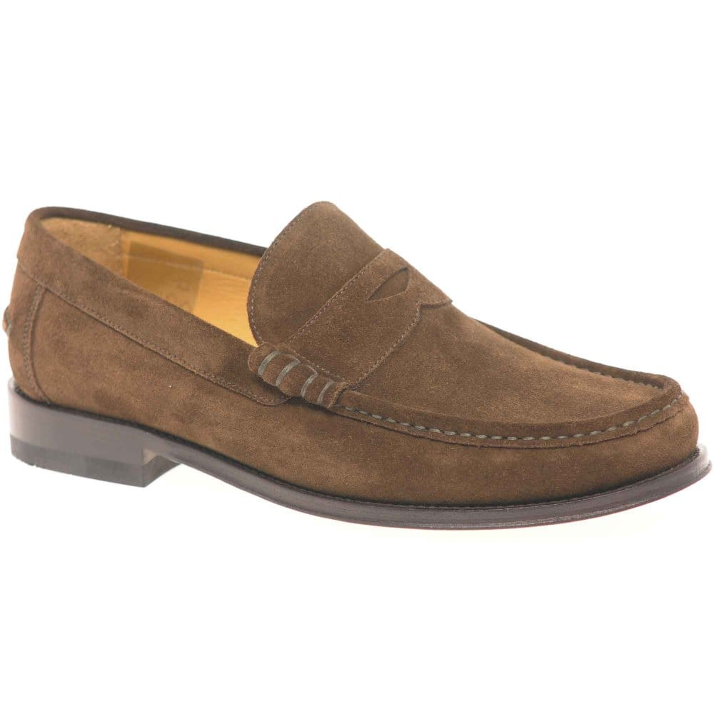 loake kingston mens slip on suede shoes loake from
